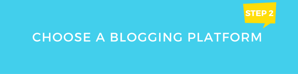Choose blogging platform