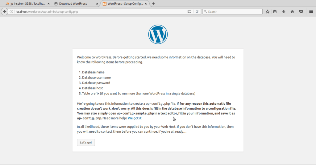 setup-localhost-wordpress