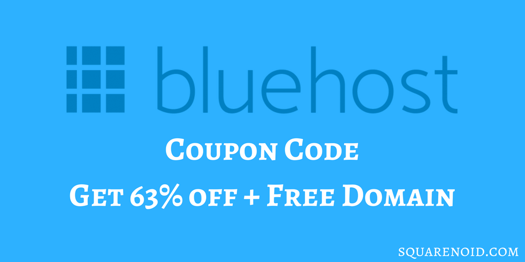 Bluehost Coupon Code – Get 63% off + Free Domain