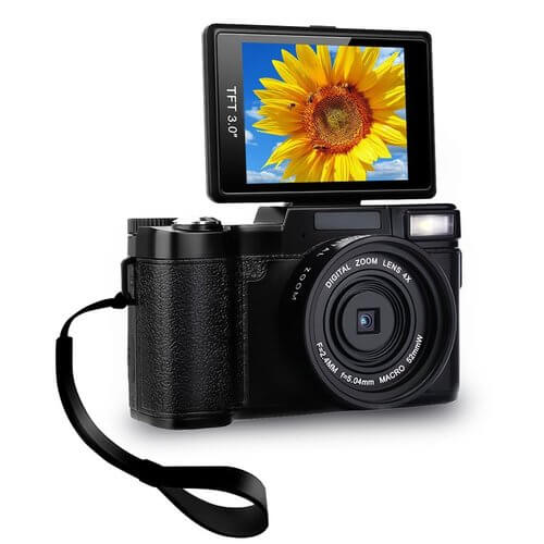 Sunlea digital camera camcorder with wrist strap