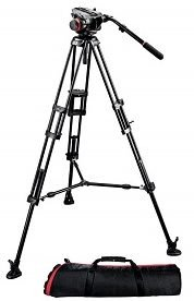 Manfrotto 504hd 546bk video tripod kit