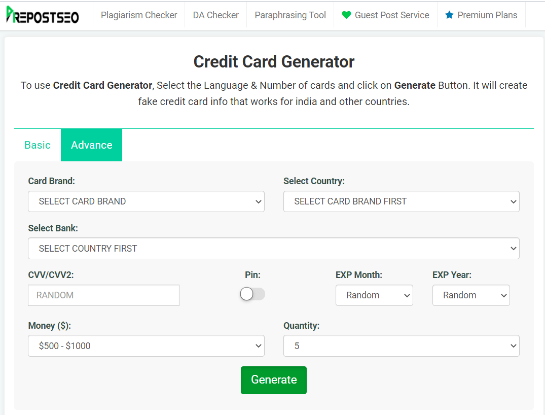 Benefits of Random credit card generator for your online business 9
